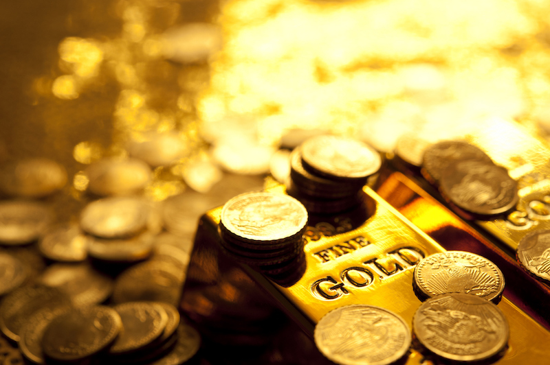 Goldbarren Goldklasse Gewinn